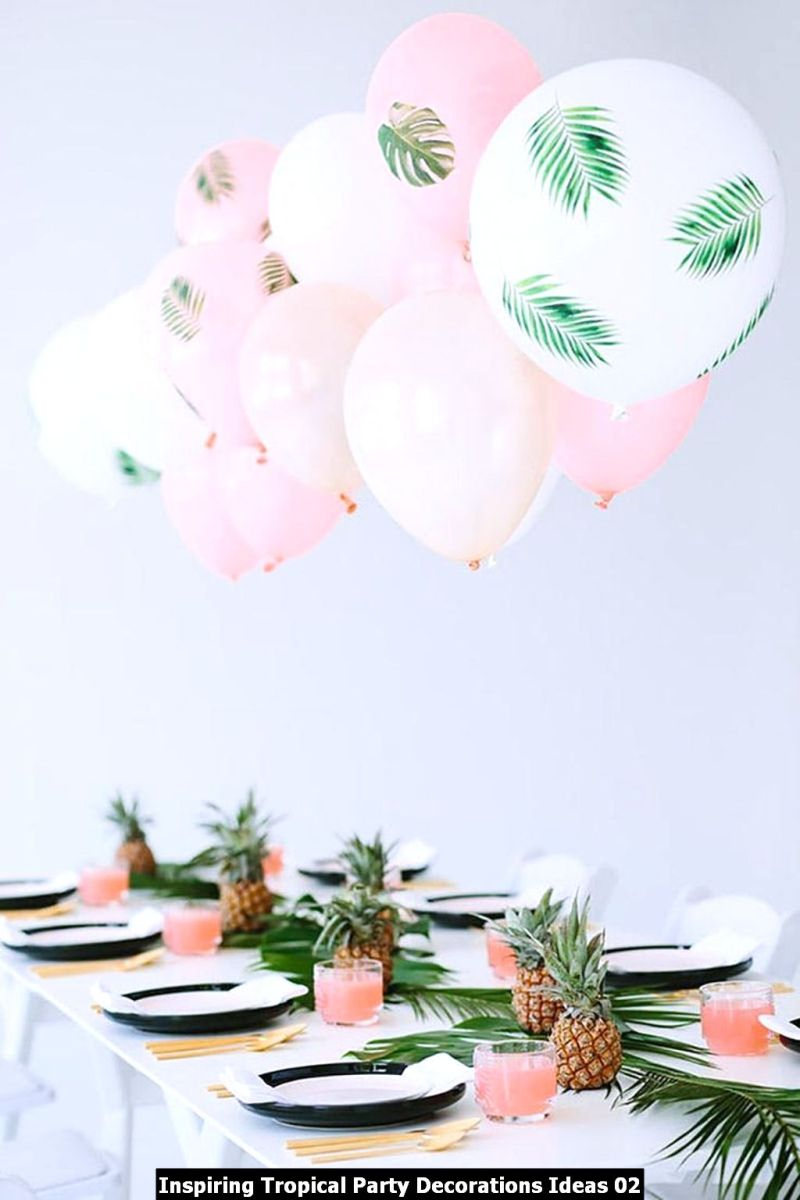 Inspiring Tropical Party Decorations Ideas 02