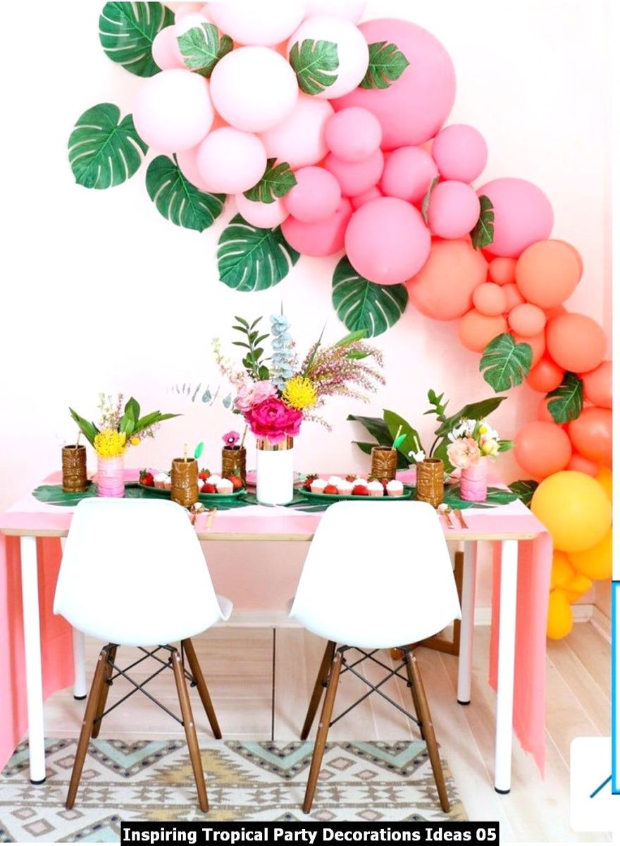 Inspiring Tropical Party Decorations Ideas 05