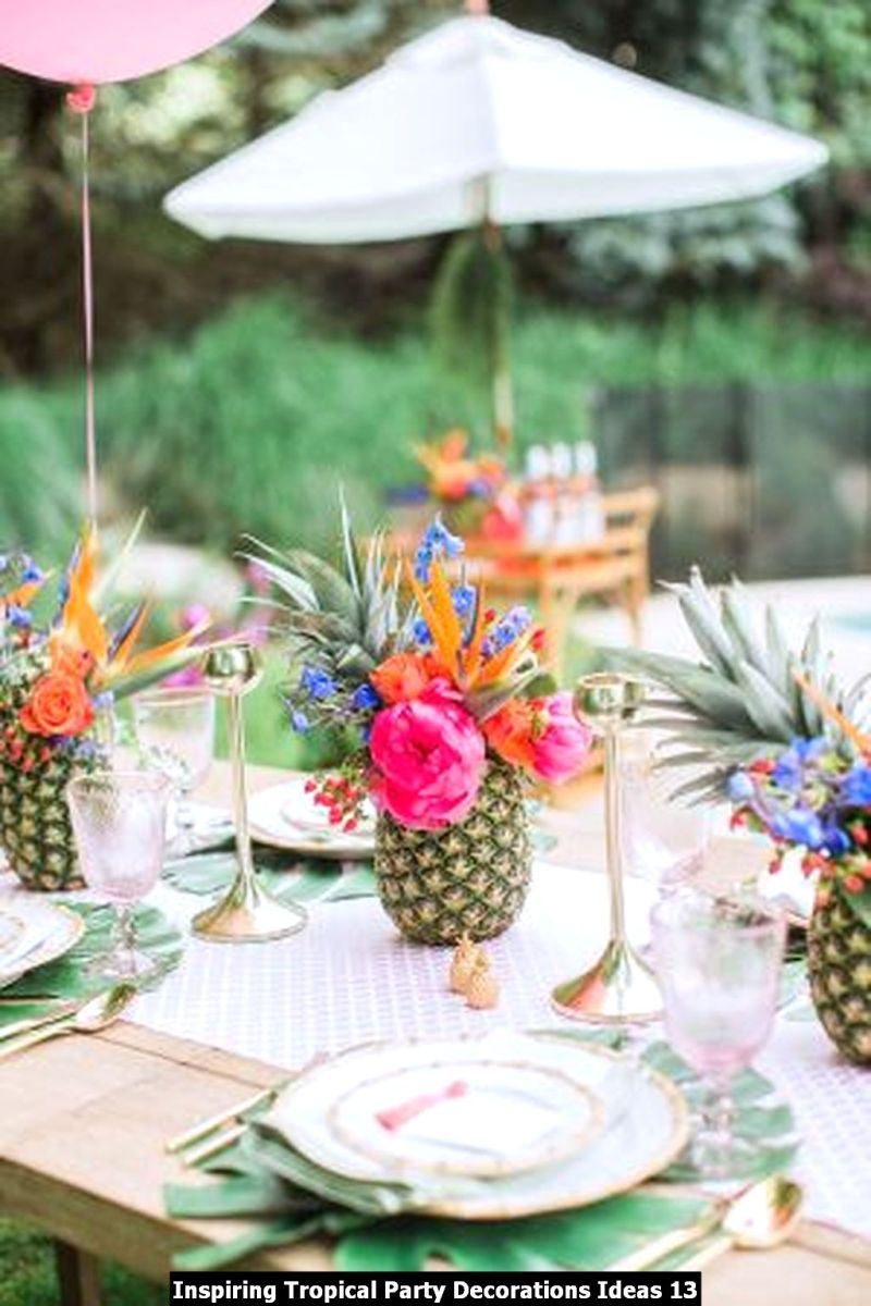 Inspiring Tropical Party Decorations Ideas 13