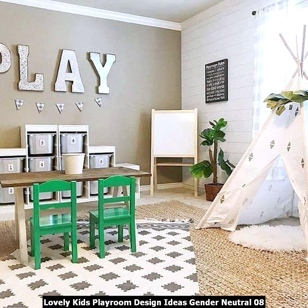 Lovely Kids Playroom Design Ideas Gender Neutral 08