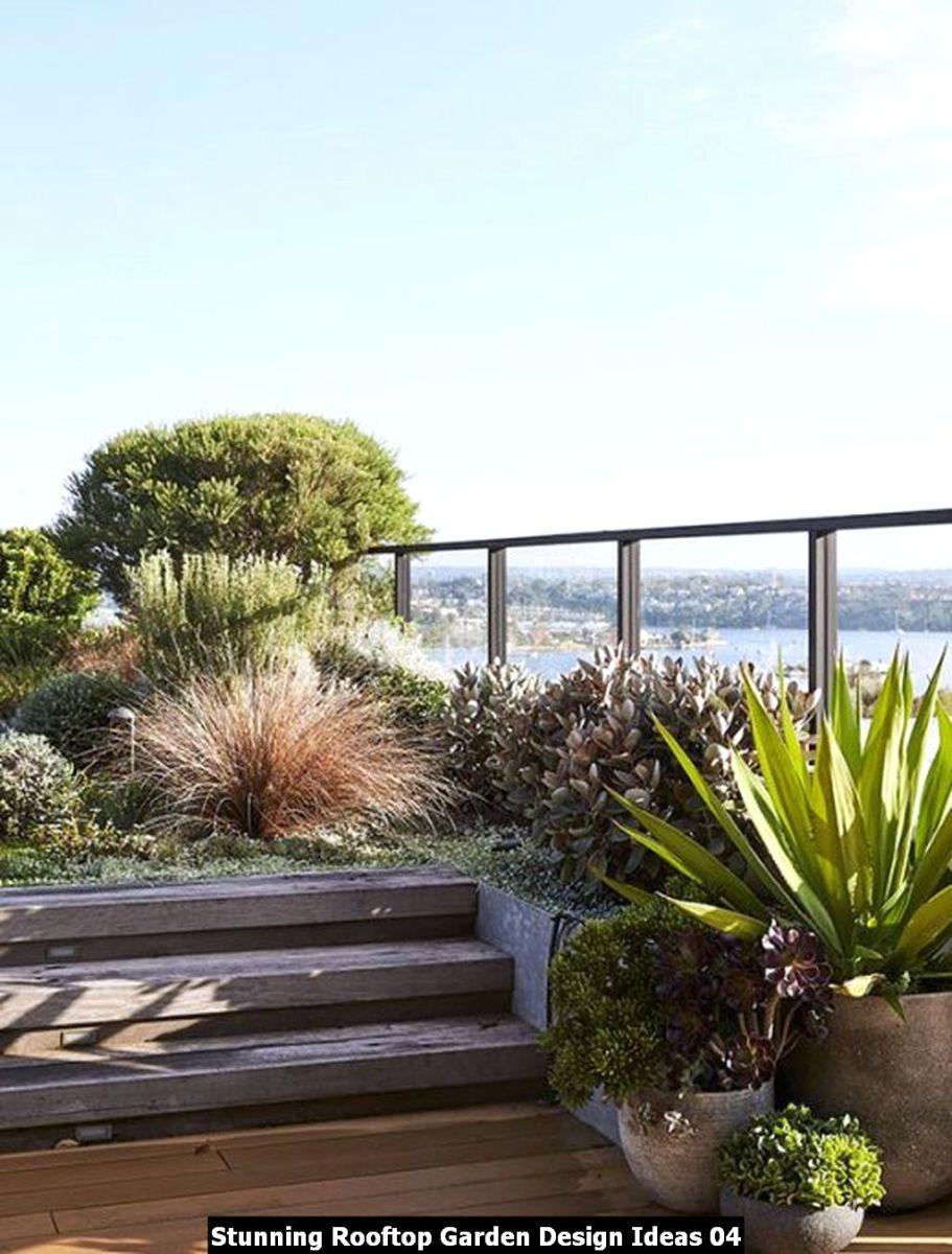 Stunning Rooftop Garden Design Ideas 04