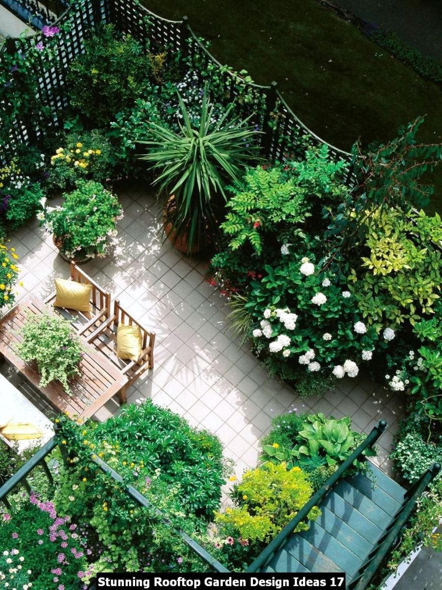Stunning Rooftop Garden Design Ideas 17
