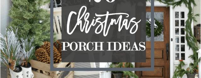 DIY Christmas Porch Decorations