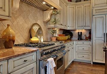 Rustic White Kitchen Cabinets