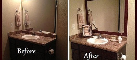 Stick On Frames For Bathroom Mirrors