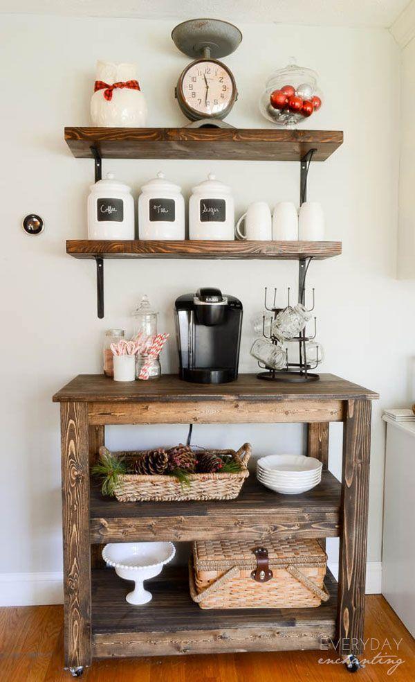DIY Home Coffee Bar Ideas