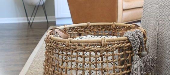 Blanket Basket For Living Room