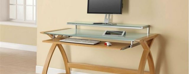 Home Office Desk With Keyboard Tray