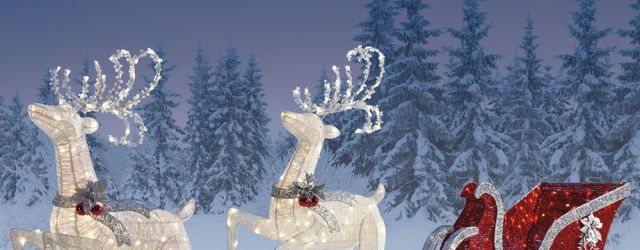Santa And Sleigh Outdoor Decoration