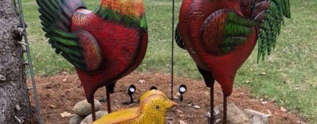 Metal Chicken Outdoor Decor