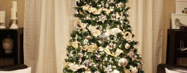 Gold Ribbon For Christmas Tree