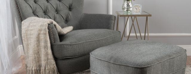 Living Room Chair With Ottoman