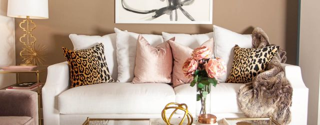 Gold Living Room Decor