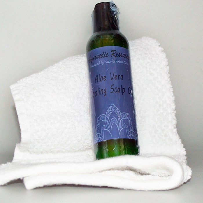Aloe Vera Cooling Scalp Oil real life