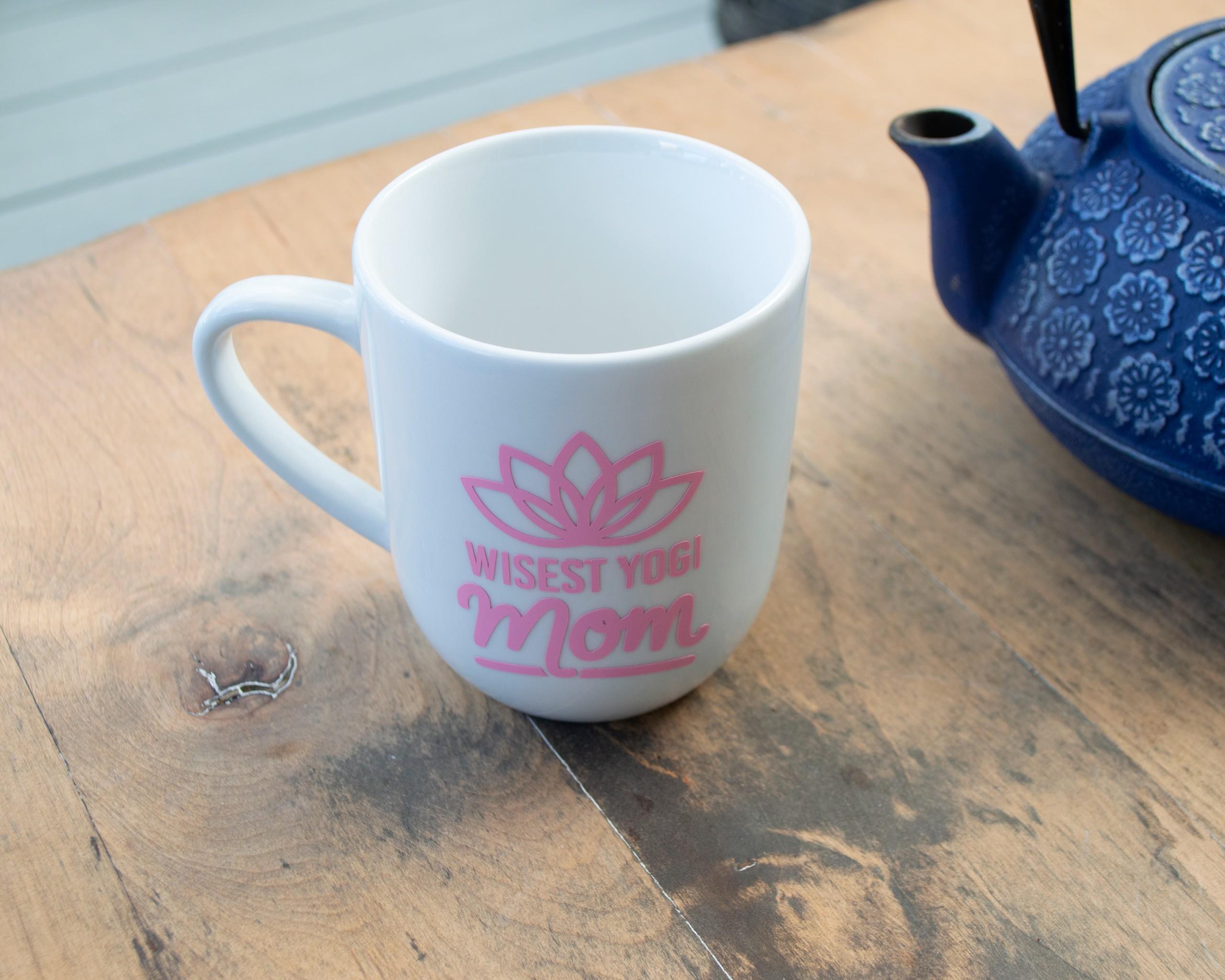 Wisest Yogi Mom Ceramic Mug