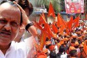 उपमुख्यमंत्री अजित पवारांच्या घरासमोर मराठा क्रांती मोर्चांचे आंदोलन