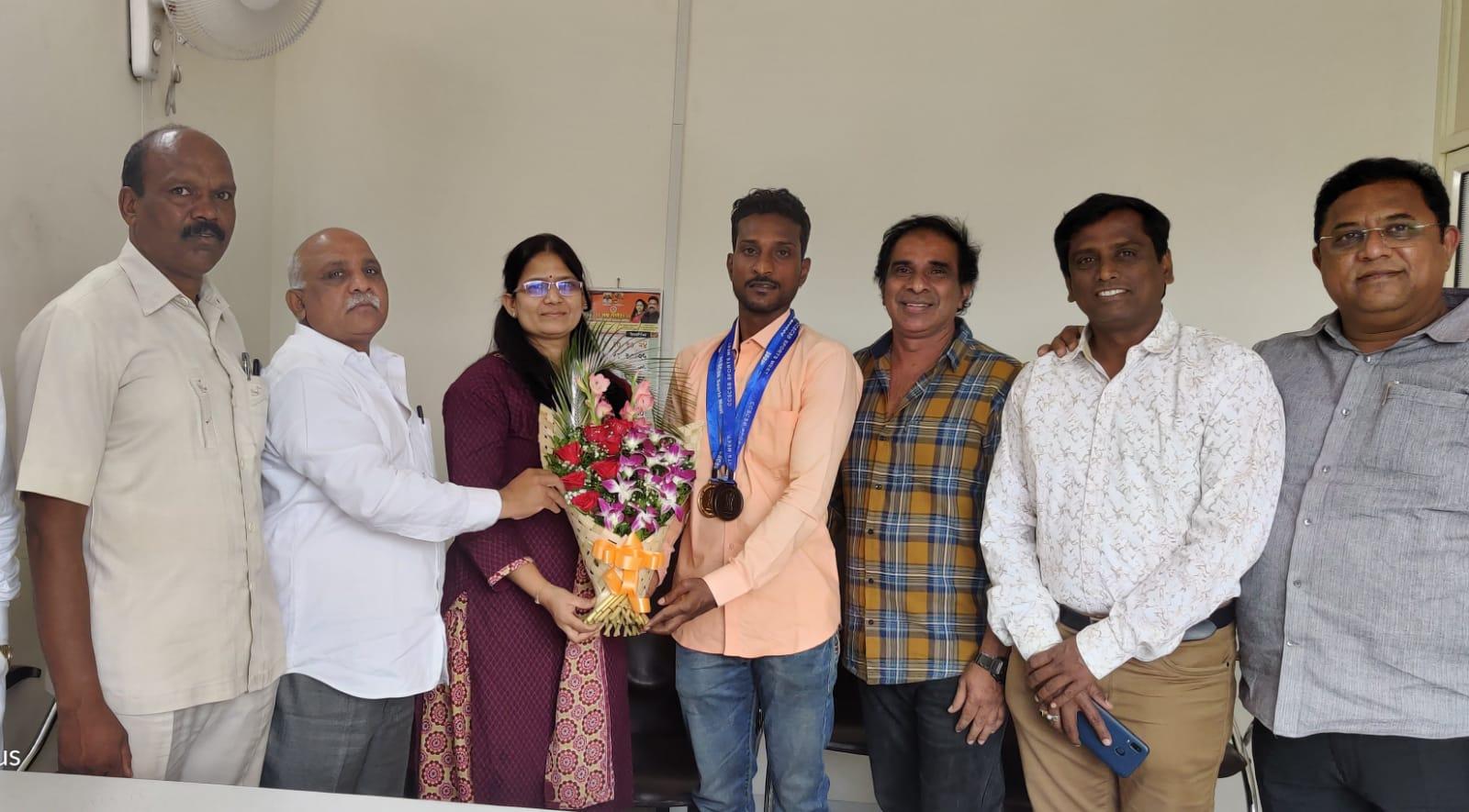 ऑल इंडिया सिव्हिल सर्व्हिसेस ॲथलेटिक्स चॅम्पियनशिप २०२१ स्पर्धेत गणेश पांडियनचे घवघवीत यश