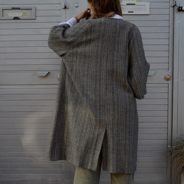 Wool Check Roomi Coat Wrap up in luxurious Unisex 100% wool coat. Roomi Designed and built in the united kingdom at Mahala is an independent homewares and accessories