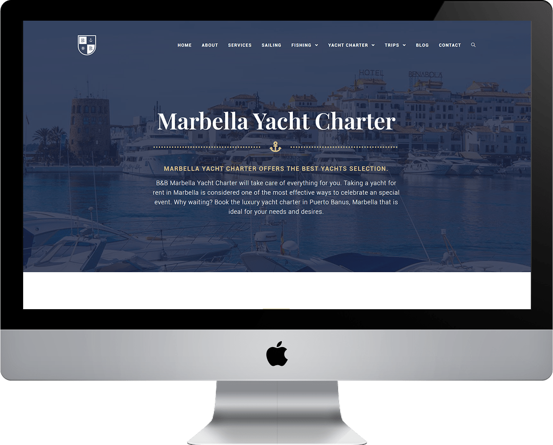 Yacht Charter website Design Template