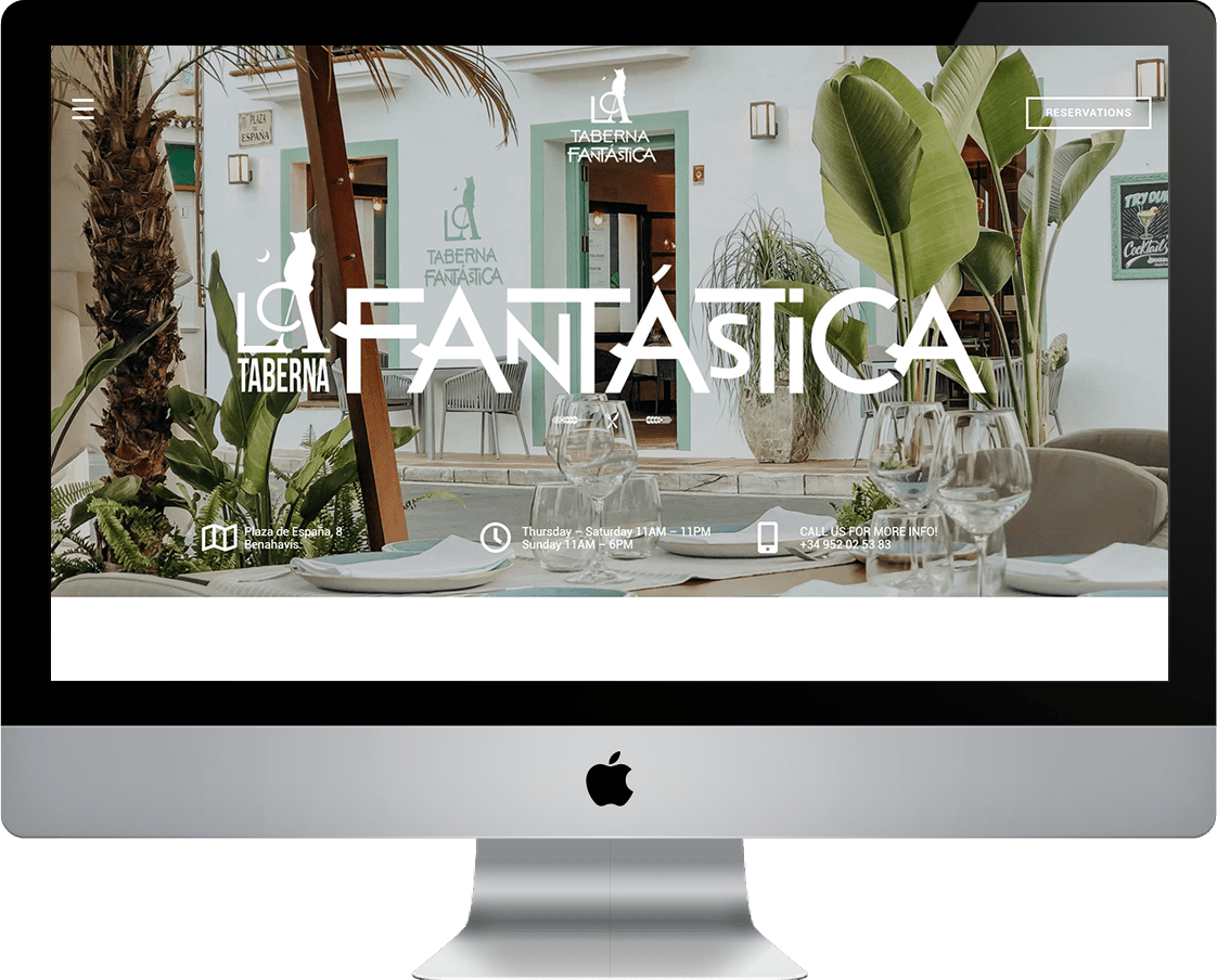La Taberna Fantastica - Restaurant Website Design