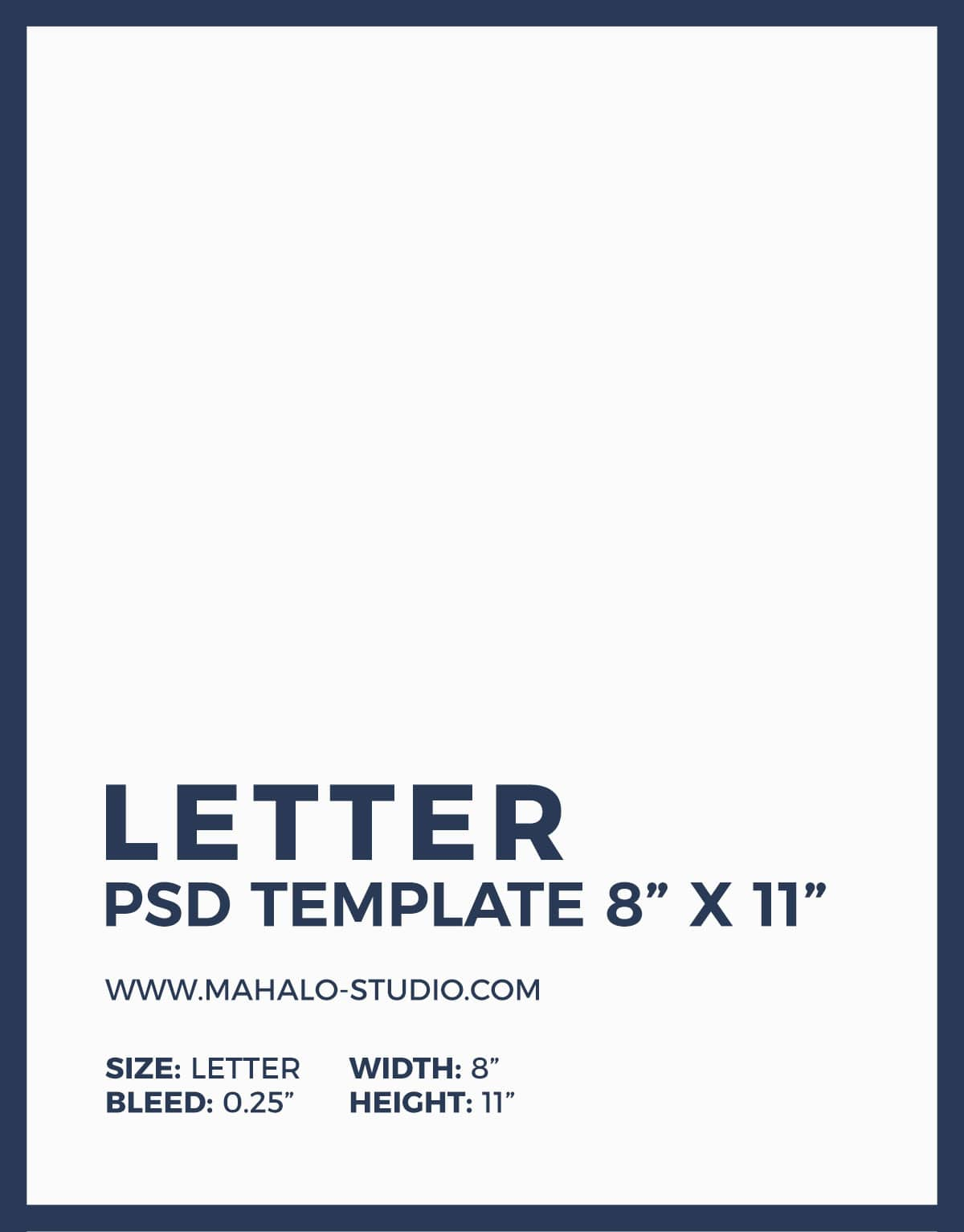Free PSD Blank Letter Size Flyer Template