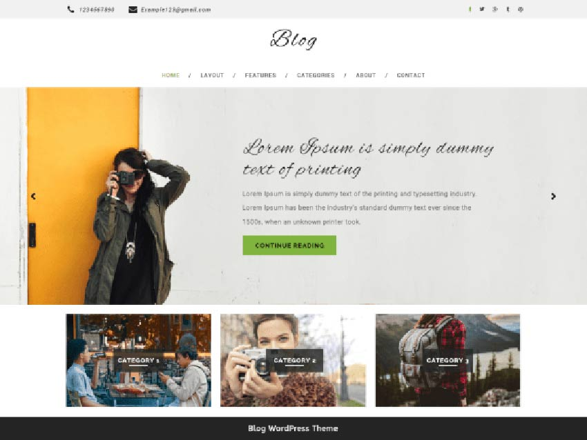 Multipurpose Blog Free WordPress Theme