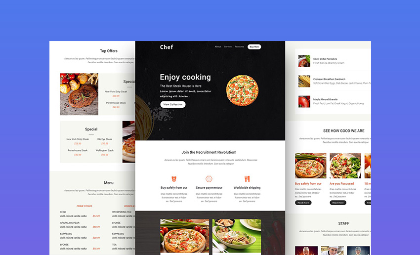 Chef Email Newsletter Design