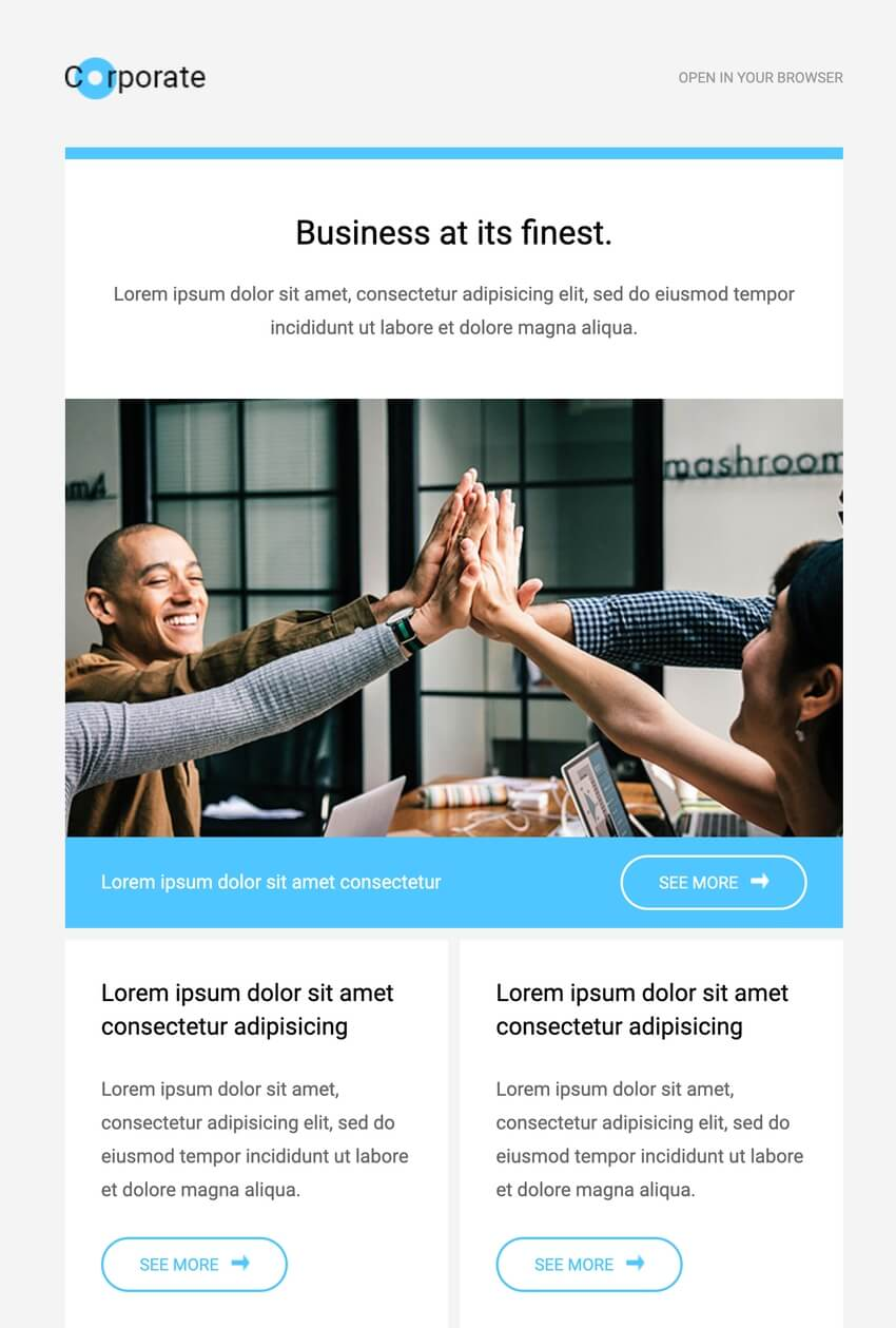 Corporate  Free HTML Email Template