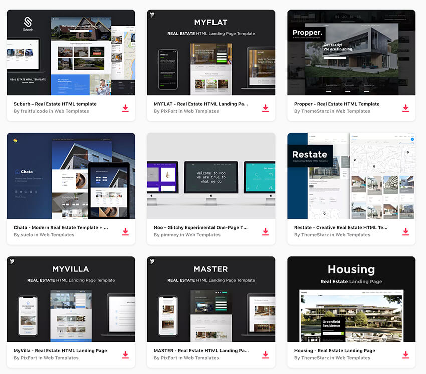 20 Best Real Estate Landing Page Templates