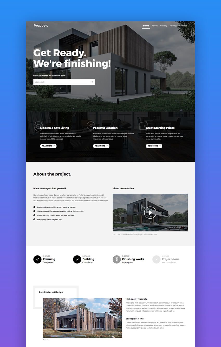 propper real estate html template