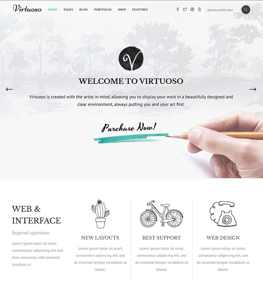 Virtuoso - Creative Theme for Artists