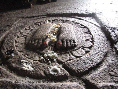 Feet impressions of Badhrabahu at Badhrabahu Cave, Chandragiri hillock, Shravanabelagola.