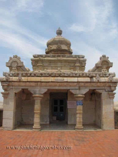 A view of Megala Basadi on Chandragiri Hillock, Shravanabelagola.