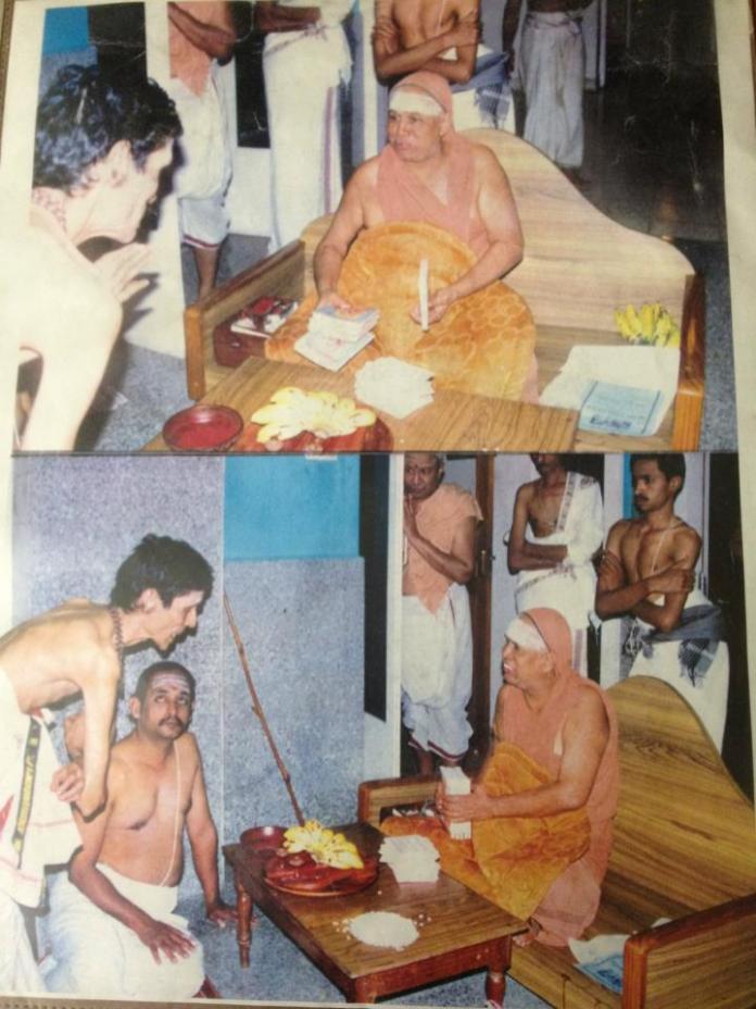 Ra Ganapathi with PEriyava in 1996
