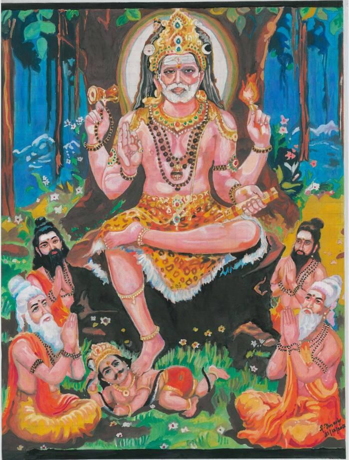19 Mahaperiyava as Dakshinamurthy 31122012