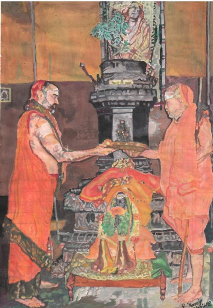 24 Mahaperiyava Brindavan With Pudhuperiyava  Balaperiyava 14062013
