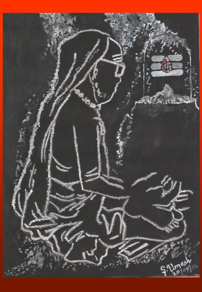42 Mahaperiyava in Viboothi Painting 20092014