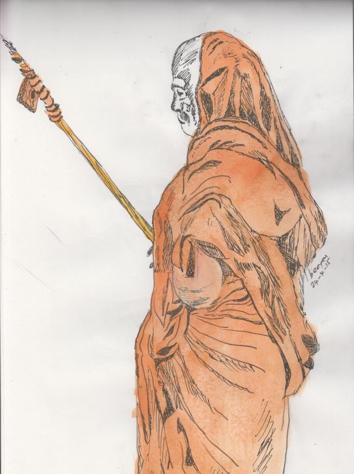 MahaPeriava Standing - Painting BN