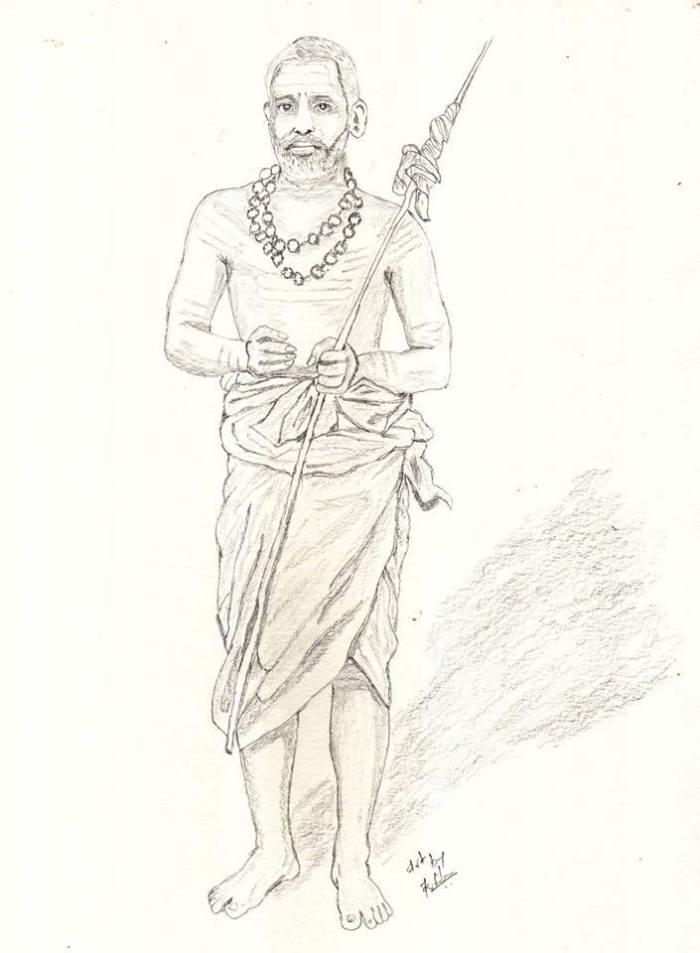Periyava_Standing_Sketch_Sudhan