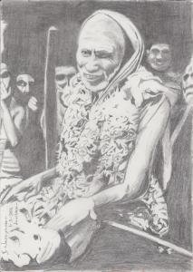 Periyava Smiling Sketch BN Mama
