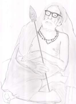 Periyava_with_vel_drawing_sudhan
