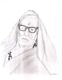 periyava_side_profile_drawing_sudhan