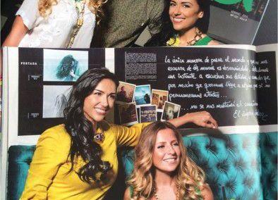 Collares de Maharani en la revista Fama