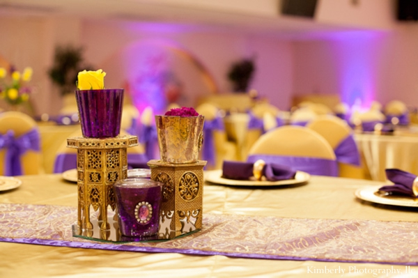 Indian Engagement Party In Purple And Gold By Kimberly