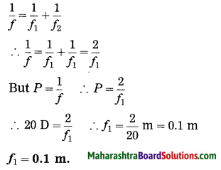 Maharashtra Board Class 10 Science Solutions Part 1 Chapter 7 Lenses 76