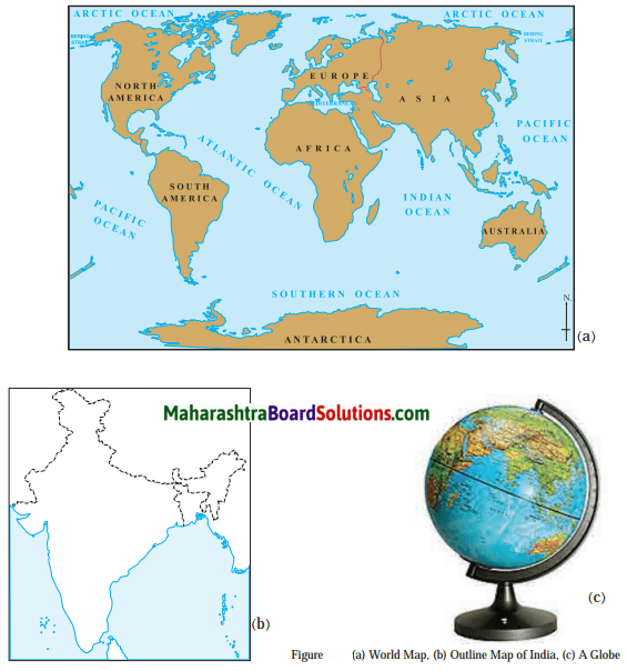 Maharashtra Board Class 6 Geography Solutions Chapter 3 Comparing a Globe and a Map Field Visits 1