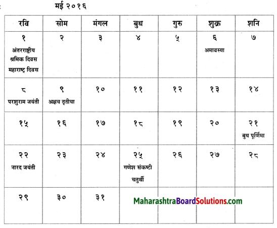 Maharashtra Board Class 6 Hindi Solutions पुनरावर्तन २ 2