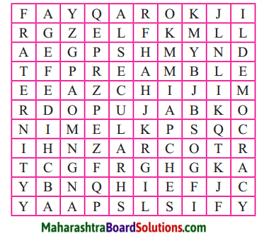 Maharashtra Board Class 7 Civics Solutions Chapter 2 Preamble to the Constitution 1