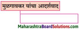 Maharashtra Board Class 9 Marathi Kumarbharti Solutions Chapter 14 आदर्शवादी मुळगावकर 1
