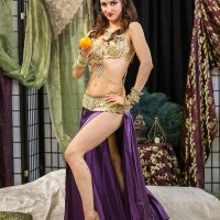 Belly dancer in costume
